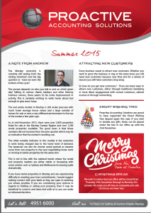 Proactive summer newsletter image